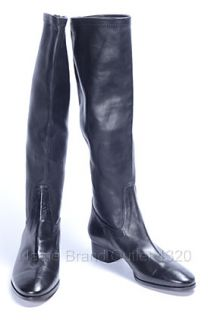 Cole Haan 7 5 B Carla Tall Shaft Boots Black Leather Heel Shoes NWD $