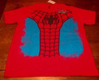 THE AMAZING SPIDER MAN Marvel Comics Costume T shirt MEDIUM NEW w/ TAG