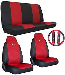 Seat Cover Car Truck SUV High Tech Sport Jersey HB Red