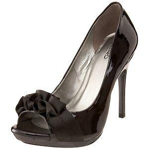 New Carlos by Carlos Santana Prestige Peep Toe Pump Heel Shoe Black 9