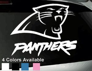 Carolina Panthers Vinyl Window Decal Bumper Sticker NFL