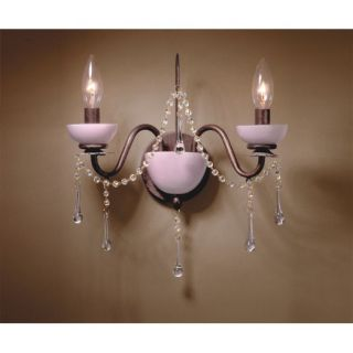 NEW 2 Light Candle Wall Sconce Lighting Fixture, Bronze, Gold, Pink