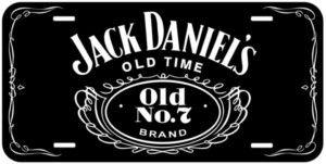 Black Jack Daniels Aluminum Novelty Car Tag License Plate