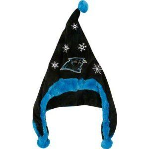 Carolina Panthers NFL Dangle Hat Santa Style Hat Hood with Balls