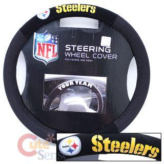 NFL Pittsburgh Steelers Auto Steering Wheel Cover Mesh