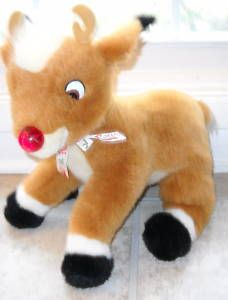 1999 Rudolph Red Nosed Reindeer 15 Plush Musical Lites
