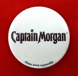 Captain Morgan Logo Souvenir Flashing Button Pinback
