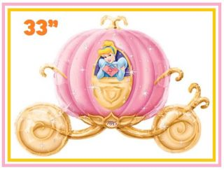 3pc Cinderella Carriage Disney Princess Birthday Party Mylar Balloon