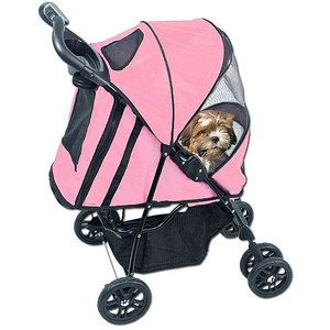 PetGear Happy Trails Pet Carrier Stroller Dog Cat Steel Nylon Jogging