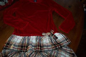 GIRLS WINTER HOILDAY CHRISTMAS DRESS 7 8 EUC RED VELVET EXTRA NICE