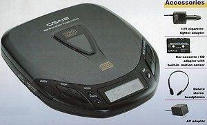 Portable cd player for car cigarette lighter