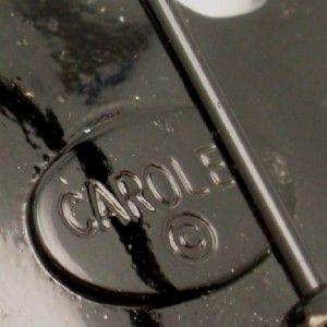 Carolee Leaf Brooch Pin Vintage Rhinestones Japanned AB