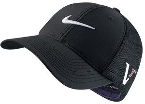 Nike Golf Tour Flat Bill Hat Cap Black Nwt