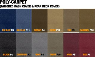 Wrangler JK Coverking Custom Fit Poly Carpet Dash Cover with JEEP Logo