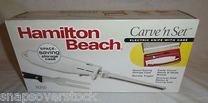 HAMILTON BEACH CARVE N SET WI ELECTRIC KNIFE WI CASE BRAND NEW