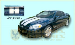 2006 2007 Chevrolet Monte Carlo SS Super Sport Rally Decal Stripe Kit