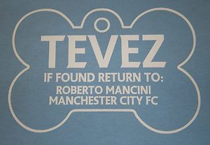 Carlos Tevez Mancini Treats Me Like A Dog Manchester City Shirt Jersey