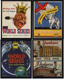 unique set of cards that features a card of each world series