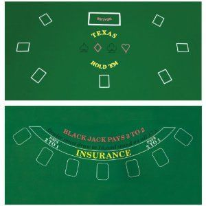 Card Game Poker Table Top Layout Cover Cards Mat Accessory Tool Set