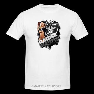 Raider Nation Oakland Raiders Fan T Shirt NFL Team Jersey s XL White