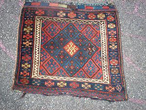 ANTIQUE JAF KURD / KURDISH SMALL BAG, TRIBAL / VILLAGE, NR (#4)