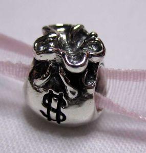 Authentic Pandora Sterling Silver Money Cash Bag 790332