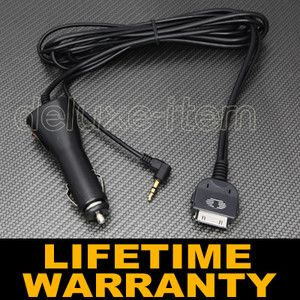 Car Stereo Radio Aux in Input 3 5mm Cable Charger Adapter for iPod