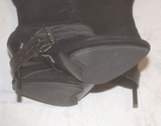 Guess Size 10 PM Carelle Black Suede Knee High Boots Marciano