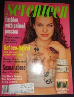 Seventeen 4 1991 Milla Jovovich Naomi Hewitt Couturier Shana Zadrick