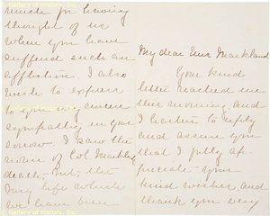 Caroline Scott Harrison Autograph Letter Signed 08 18 1886