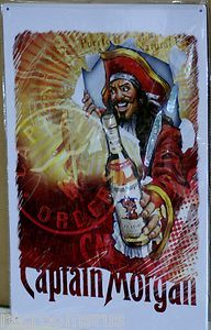 Captain Morgan Rum The Captain s Order Metal Sign