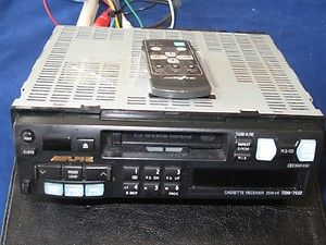 Alpine car stereo Cassette Receiver 4x25 Watt 7532 With Remote