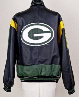 Carl Banks Green Bay Packers NFL Leather Jacket XL