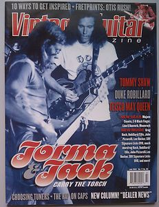 Vintage Guitar Magazine July 2003 Jorma Kaukonen & Jack Casady