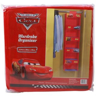 NEW Cars Lightning MCQUEEN Wardrobe Shelf ORGANISER Storage 4 Kids