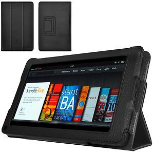 CaseCrown Bold Trifold Cover Case for  Kindle Fire Black