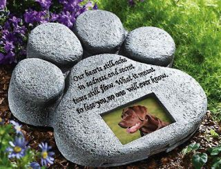 Pet Paw Print Dog Cat Memorial Garden Decor New A1529
