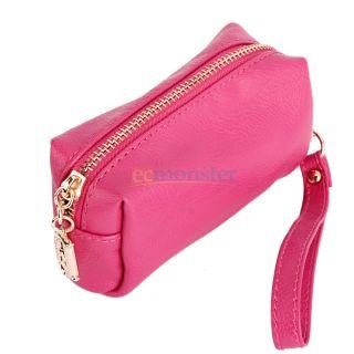 Practical Zipper Cash Cell Phone Clutch Bag Wrist Bag Handbag 5 Colors