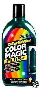 Turtle Wax Color Magic Dark Green Colour Enriched Wax Polish 500ml