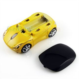 USB 2 4G 1600dpi Car Shape 3D Optical Wireless Mouse Mice for Laptop