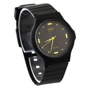 CASIO MQ76 1A MENS BLACK DIAL RESIN CASUAL CLASSIC ANALOG WATCH RESIN
