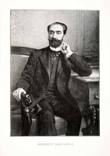 1899 Print Portrait Francois Sadi Carnot French Statesman President