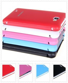 New Red Slim Leather Style Flip Cover Case for Samsung Galaxy Note