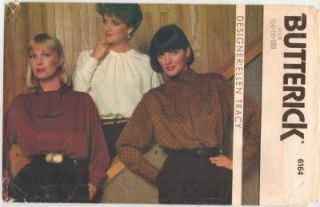 Misses Ellen Tracy Work Office Pullover Blouses Shirt Pattern s14 18