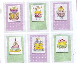 CUPCAKE CAKES BIRTHDAY CARDS TO STITCH PATTERNS CROSS STITCH PATTERN