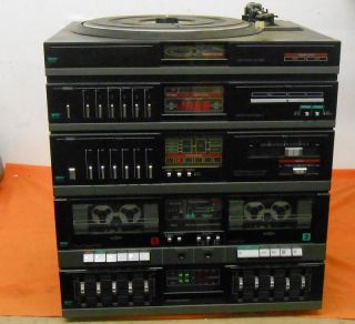 MCS Am FM Stereo Radio Dual Cassette Belt Drive Turntable 683 2252