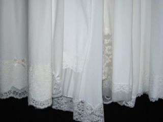 Lovely White Vtg Full Slips to Dye for Vanity Fair Van Raalte 2