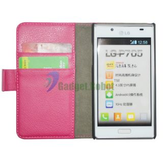 PINK WALLET LEATHER CASE COVER FOR. LG OPTIMUS L7 P705 SPLENDOR US730