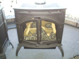 Premium Direct Vent Cast Iron Gas Stove in Flat Black