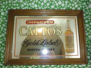 Cattos Whisky Mirror Sign Bar Pub Sign 21 Whiskey Advertising